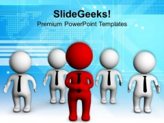 Leader And Team Business Strategy PowerPoint Templates Ppt Backgrounds For Slides 0513