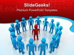 Leader And Team Leadership PowerPoint Templates And PowerPoint Themes 0512
