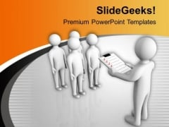 Leader Giving Instructions To His Team PowerPoint Templates Ppt Backgrounds For Slides 0713
