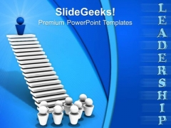 Leader On Top Success PowerPoint Templates And PowerPoint Themes 0712
