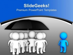Leader Protecting His Team PowerPoint Templates Ppt Backgrounds For Slides 0713
