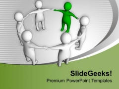 Leader Support His Team PowerPoint Templates Ppt Backgrounds For Slides 0713