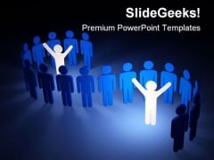 Leaders In Group Leadership PowerPoint Background And Template 1210