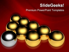 Leadership Ball Business PowerPoint Themes And PowerPoint Slides 0411