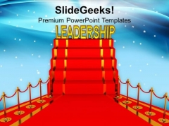 Leadership On Red Carpet Decoration PowerPoint Templates Ppt Backgrounds For Slides 0213