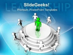 Leadership Skills Helps In Business Growth PowerPoint Templates Ppt Backgrounds For Slides 0613