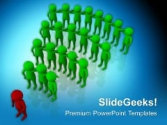 Leading Team With Confidence PowerPoint Templates Ppt Backgrounds For Slides 0713