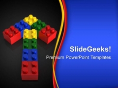 Lego Arrow Business PowerPoint Templates And PowerPoint Themes 0312