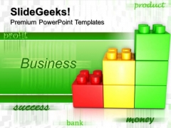 Lego Bar Graph Building Business PowerPoint Templates And PowerPoint Themes 0512