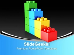 Lego Bar Graph Business PowerPoint Templates And PowerPoint Themes 0912