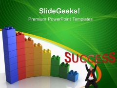 Lego Bar Graph Success PowerPoint Templates And PowerPoint Themes 0312