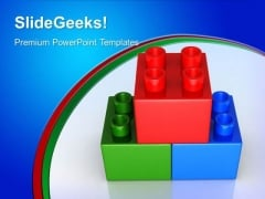 Lego Blocks Children PowerPoint Templates And PowerPoint Themes 0412