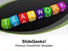 Lego Blocks Illustrating Teamwork Unity PowerPoint Templates Ppt Backgrounds For Slides 0113