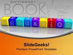 Lego Blocks Making Education Future PowerPoint Templates Ppt Backgrounds For Slides 0213