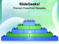 Lego Brick Wall Construction PowerPoint Templates And PowerPoint Themes 0512