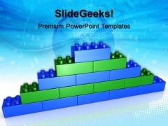 Lego Brick Wall Success PowerPoint Templates And PowerPoint Themes 0512