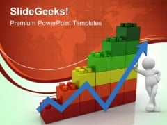 Lego Graph Business PowerPoint Templates And PowerPoint Themes 0412
