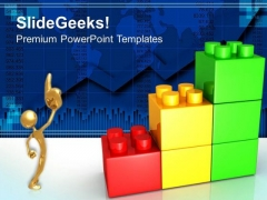 Lego Growth Chart Business PowerPoint Templates And PowerPoint Themes 0512