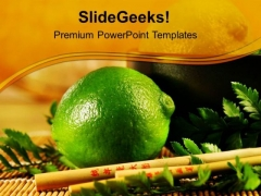 Lemons Are Good Source Of Vitamin C PowerPoint Templates Ppt Backgrounds For Slides 0613