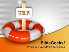 Lifeguard Tube With Help Board Savings PowerPoint Templates Ppt Backgrounds For Slides 0213