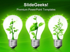 Light Bulb With Sprout Inside Nature PowerPoint Themes And PowerPoint Slides 0411