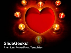 Lights Around Heart Holiday PowerPoint Templates And PowerPoint Themes 1112