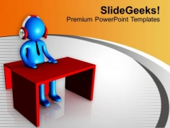 Listen And Solve Problems PowerPoint Templates Ppt Backgrounds For Slides 0713