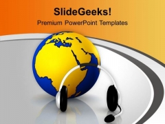 Listen Global Music PowerPoint Templates Ppt Backgrounds For Slides 0713