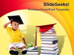 Little Graduate Education PowerPoint Template 0610