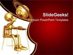 Little Student Education PowerPoint Templates And PowerPoint Backgrounds 0711