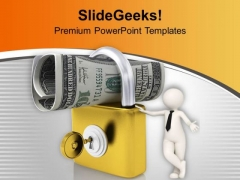 Lock And Us Dollar And Key Security PowerPoint Templates Ppt Backgrounds For Slides 0213