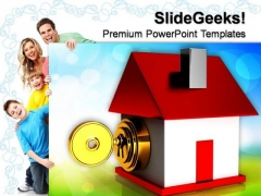 Lock House Security PowerPoint Templates And PowerPoint Themes 0812