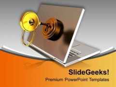 Lockable Informative Laptop PowerPoint Templates Ppt Backgrounds For Slides 0313