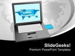 Login Screen And Credit Card Services PowerPoint Templates Ppt Backgrounds For Slides 0213