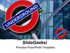 London Underground Travel PowerPoint Template 0910