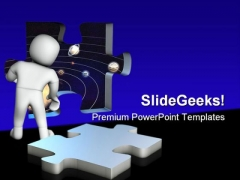 Look Into The Space Geographical PowerPoint Themes And PowerPoint Slides 0411