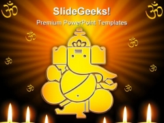 Lord Ganesh Hindu Religion PowerPoint Themes And PowerPoint Slides 0411