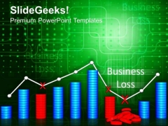 Loss Graph Business PowerPoint Templates And PowerPoint Themes 0812