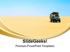 Lost In The Desert Travel PowerPoint Templates And PowerPoint Backgrounds 0711