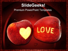 Love Apple Food PowerPoint Template 0810