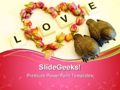 Love Birds Metaphor PowerPoint Templates And PowerPoint Backgrounds 0711