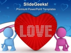 Love Peace Metaphor PowerPoint Templates And PowerPoint Backgrounds 0511