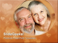 Loving Mature Couple Family PowerPoint Templates And PowerPoint Backgrounds 0711
