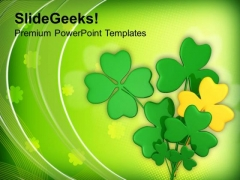Lucky Symbol Irish Patricks Day PowerPoint Templates Ppt Backgrounds For Slides 0313