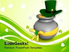 Lucky Symbols Of Irish Feast Day PowerPoint Templates Ppt Backgrounds For Slides 0313