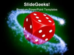 Magic Die Symbol PowerPoint Templates And PowerPoint Backgrounds 0211