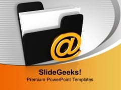 Mail Folder Business PowerPoint Templates And PowerPoint Themes 1012