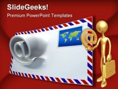 Mail Morphing Internet PowerPoint Backgrounds And Templates 1210