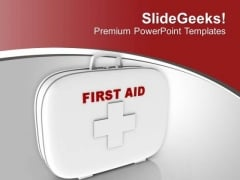 Maintain A First Aid Kit For Emergency PowerPoint Templates Ppt Backgrounds For Slides 0513