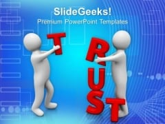 Maintain A Trust With Business People PowerPoint Templates Ppt Backgrounds For Slides 0613